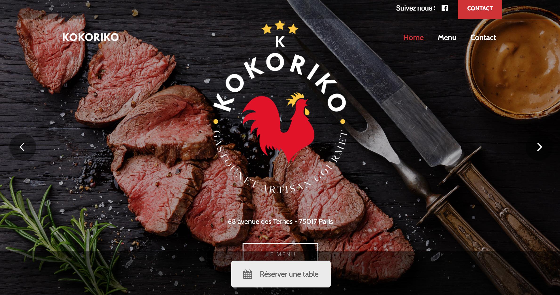 Nouveau site du restaurant bassari Kokoriko à Paris